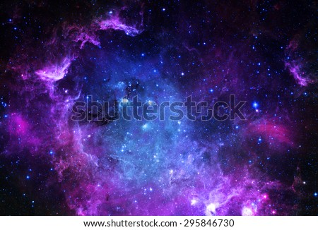 Nebula and stars in outer space. Elements of this image furnished by NASA. stock photo © NASA_images