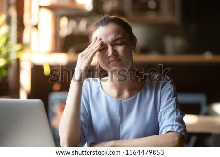 Confundirse mujer de negocios estrés negocios Trabajo gerente Foto stock © alphaspirit