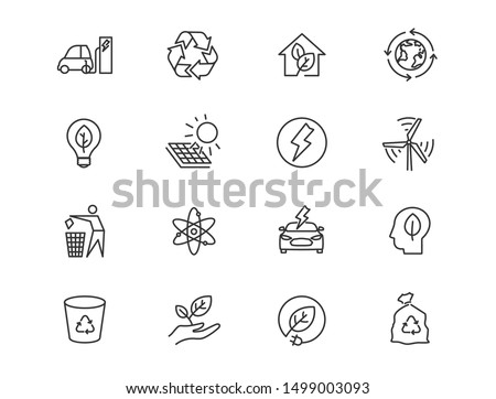 Stock photo: Lightning linear icon. Energy vector icon, lightning sign. charge flat symbol on gray background. ed