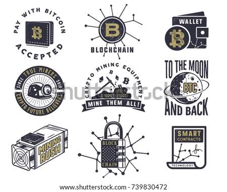 Godło cyfrowe majątek logo vintage Zdjęcia stock © JeksonGraphics