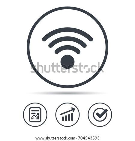 Wifi connessione segnale icona verificare Foto d'archivio © kyryloff
