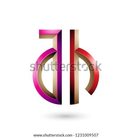 Magenta vermelho símbolo cartas vetor isolado Foto stock © cidepix