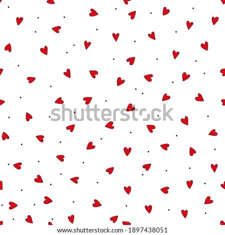 szív · vektor · végtelen · minta · kézzel · rajzolt · szívek · vonalak - stock fotó © imaagio