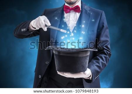 Joven imagen negro mago varita mágica calle Foto stock © Stasia04