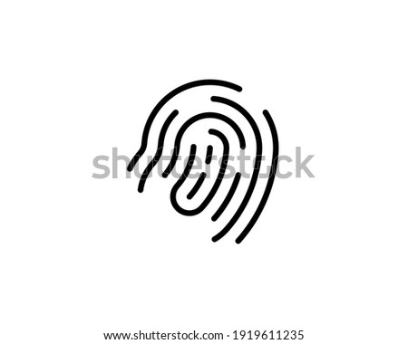 cryptographic signature glyph icon security and identity fingerprint sign vector illustration iso stock photo © kyryloff