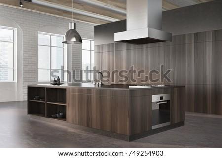 Interieur hoek moderne keuken staal wastafel Stockfoto © artjazz
