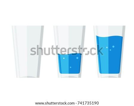 Transparente vidro vetor vazio copo água Foto stock © pikepicture