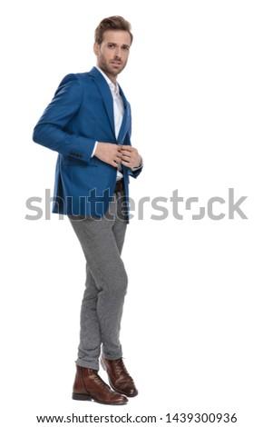 çekici · damat · ayakta · bacak · bacak · beyaz - stok fotoğraf © feedough