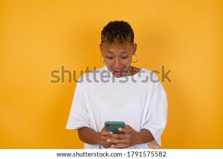 Szép fekete afro amerikai stúdió fehér Stock fotó © Lopolo