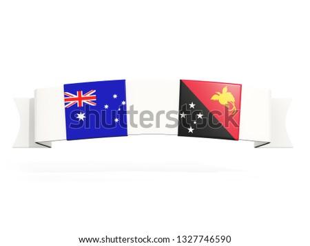 バナー 2 広場 フラグ オーストラリア パプアニューギニアの ストックフォト © MikhailMishchenko