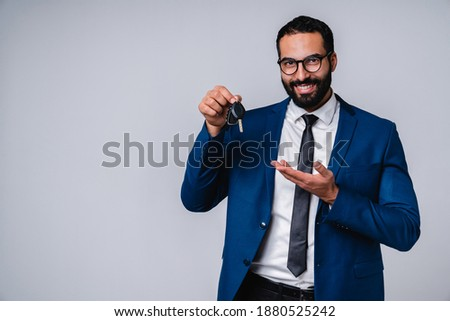image of successful arabic businessman 30s in formal suit smilin stock photo © deandrobot