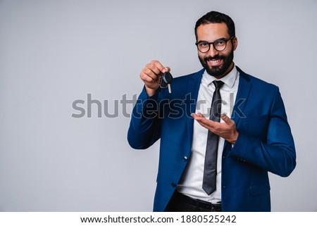 Bild erfolgreich arabisch Geschäftsmann 30s formal Stock foto © deandrobot