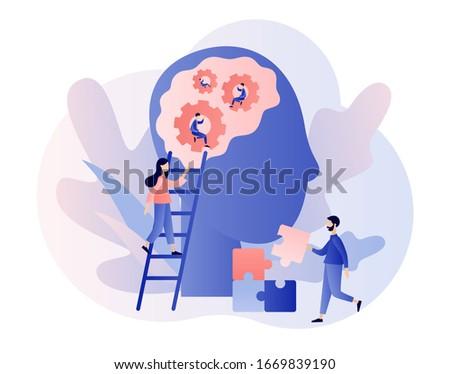 family psychologist   modern vector flat design style illustration stock photo © decorwithme
