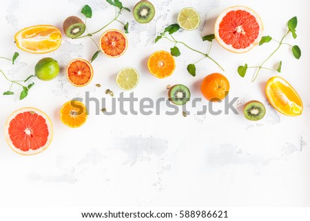 Fresh Citrus Salad. Vegan, vegetarian, clean eating, dieting, food concept. Stok fotoğraf © Illia