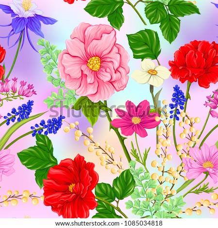 Fiori di primavera vettore realistico fiori bouquet illustrazioni Foto d'archivio © frimufilms