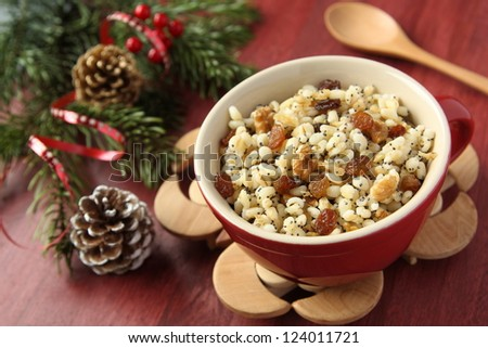 Cuchara tradicional Navidad dulce comida Ucrania Foto stock © Melnyk