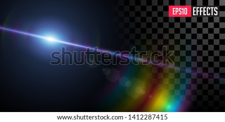 Far Star Vector Transparent Sci Fi Blue Star Special Lens Flare Light Effect Foto stock © Tashatuvango