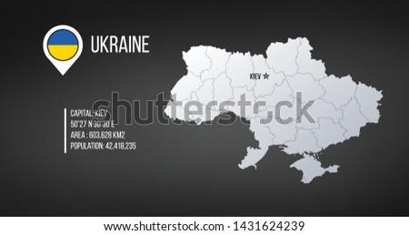 Украина карта общий информации Инфографика Сток-фото © kyryloff