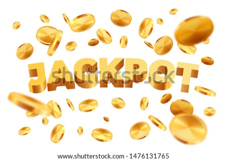 euro realistic gold coins explosion isolated on white background vector illustration stock photo © olehsvetiukha