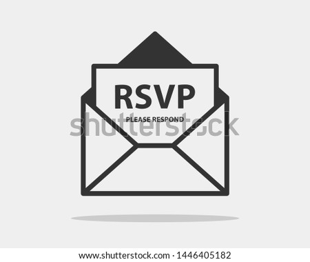 Please respond letter. RSVP wedding concept. Envelope love letter icon. Handwritten Elegant calligra Stock photo © Andrei_