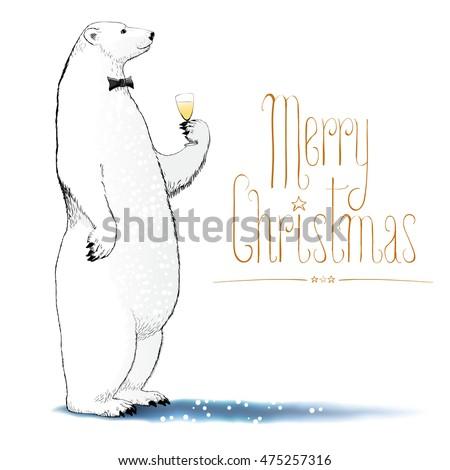 Allegro Natale orsi orso polare Foto d'archivio © marish