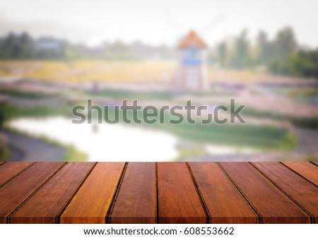 Seçilmiş odak boş ahşap masa görmek çok Stok fotoğraf © Freedomz