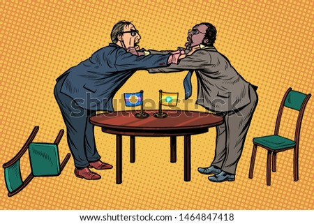 racial discrimination. policy diplomacy and negotiations. Fight opponents Stock photo © studiostoks