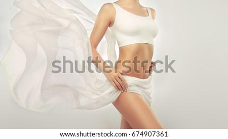 perfect · slank · jonge · lichaam · meisje · voorbeeld - stockfoto © serdechny