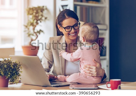 Intelligent female businesswoman working on laptop while analysi Stock photo © Freedomz