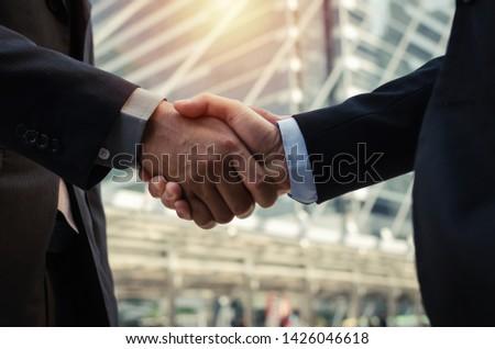 befejezés · felfelé · megbeszélés · üzlet · kézfogás · megbeszél - stock fotó © Freedomz