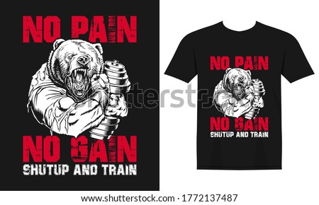 Barbell sport train tshirt fitness Photo stock © Andrei_