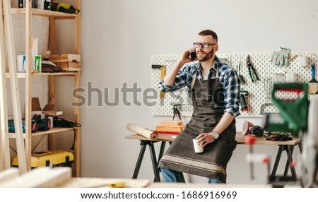Fiatal profi mester szerkentyű javítás szolgáltatás Stock fotó © pressmaster