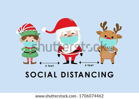 Neşeli Noel tebrik cin siluetleri Stok fotoğraf © hittoon