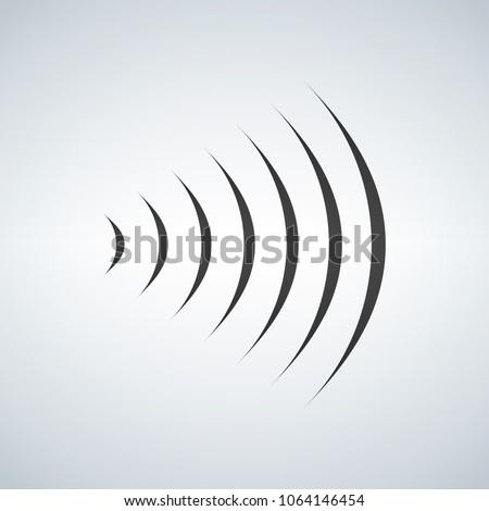 Wifi geluid signaal verbinding radiogolf logo Stockfoto © kyryloff