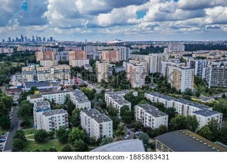 Aerial photography drone point of view from above modern archite Stock photo © amok