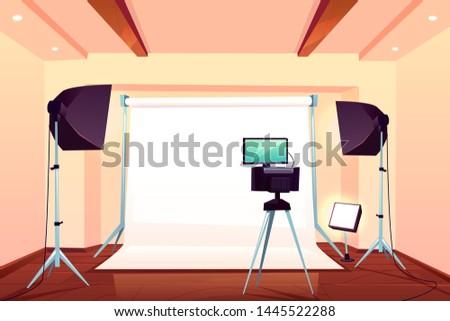 Cartoon fotograaf foto camera vector Stockfoto © vasilixa