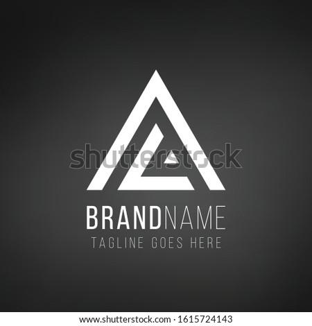 письме логотип геометрический треугольник стрелка Сток-фото © kyryloff