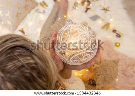 Decorativo glitter design Natale gingillo Foto d'archivio © lovleah