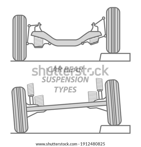 Car rear wheel suspension - solid axle beam and rear independent Stock photo © gomixer