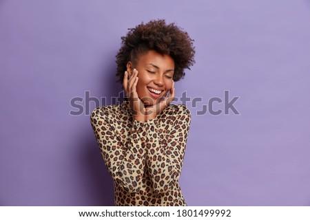 фото афро американский подростку вьющиеся волосы Сток-фото © vkstudio