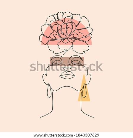 красивой цветок линия искусства дизайна рисунок Сток-фото © ESSL
