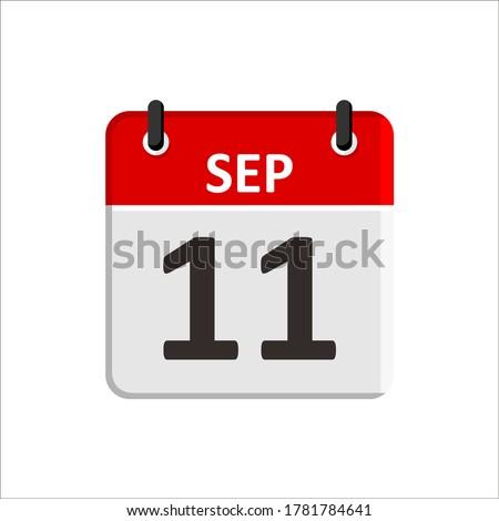 Kalender Veranstalter Symbol 11 September Erinnerung Sitzung Stock foto © kyryloff