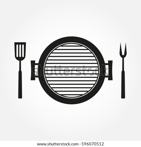 Barbeque Grill Equipment For Frying Meat Vector Stock photo © pikepicture