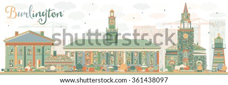 Vermont kolor budynków Błękitne niebo Zdjęcia stock © ShustrikS
