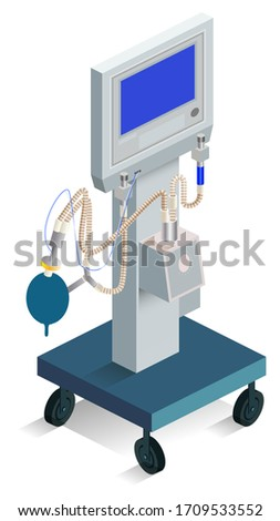 Moderne ventilator ademhaling medische product ziekenhuis Stockfoto © orensila
