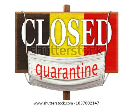 Figyelmeztető jel baktériumok koronavírus zászló fehér copy space Stock fotó © artjazz
