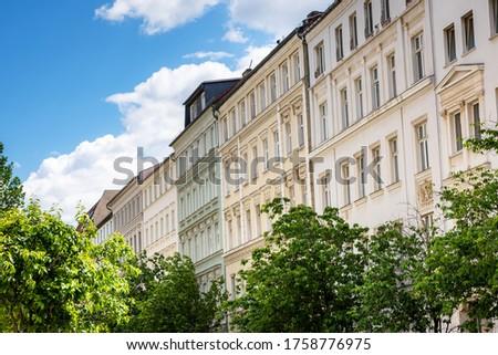 New townhouses in the Prenzlauer Berg district Stock photo © elxeneize