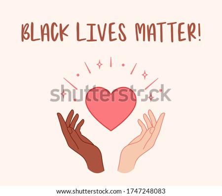 Preto punho feminino mãos protesto racismo Foto stock © beaubelle