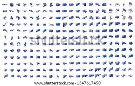 Grand ensemble vecteur drapeaux Australie étoiles Photo stock © butenkow