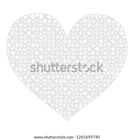 Beyaz parçalar kalp şekli karmaşık şablon Stok fotoğraf © evgeny89